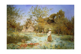 Young Girl in an Orchard Giclee Print by Duncan MacKellar