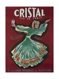 Cristal Table Water French Advertising Poster Giclee Print