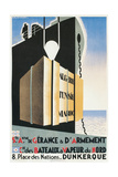 French Ad for Steamship Line Port, Dunkirk Giclee Print