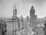 Michigan Avenue View in Chicago, Ca. 1925 Photographic Print