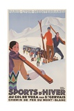 Sports D'Hiver, French Plm Ski Poster - Giclee Baskı