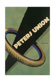 Advertisement for Peters Union Tires Giclee Print