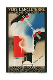 French Advertisement for Crossing the English Channel Giclee Print