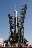 Soyuz on Launch Pad Photographic Print
