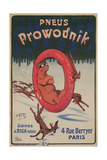 French Advertisement for Prowodnik Tires Giclee Print