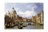 The Entrance to the Grand Canal Giclée-tryk af Canaletto