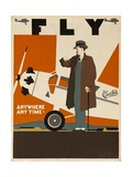 Fly Anywhere Any Time, 1930 Curtiss Aircraft Advertising Poster Giclee Print