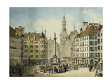 The Schrannenplatz, Munich Giclee Print by Simon Quaglio