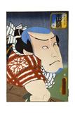 Ichikawa Kyuzo as Katana Kaji Dankuro Giclee Print by  Utagawa Kunisada and U. Yoshitora