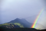 Rainbow over Alaskan Mountain Photographic Print by Paul Souders