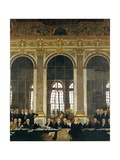 The Signing of Peace in the Hall of Mirrors, Versailles, June 28, 1919 (The Peace of Versailles) Giclee Print by William Orpen