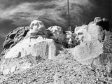 Mount Rushmore Construction Photographic Print