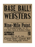 Base Ball Between Websters, 1900 Baseball Poster Giclee Print