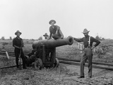 American Soldiers and Cannon During Philippine Insurrection Photographic Print