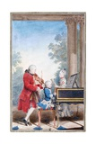 Wolfgang Amadeus Mozart in Paris as a Child Giclee Print