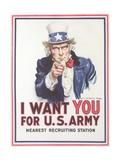 Vintage Army Recruiting Poster Giclee Print