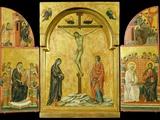 Crucifixion Altarpiece Fotografisk tryk af  Duccio di Buoninsegna