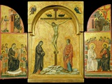 Crucifixion Altarpiece Photographic Print by  Duccio di Buoninsegna