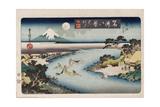 Autumn Moon, Tama River Giclee Print by Utagawa Toyokuni II