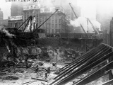 Subway Excavation Site in Union Square, New York Photographic Print