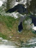 Low Earth Orbit View of the Great Lakes Photographic Print