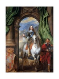 Charles I with Monsieur De St Antoine Giclée-Druck von Anthony Van Dyck