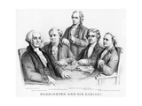 Washington and His Cabinet Giclee Print by  Currier & Ives