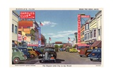 Street in Reno, Nevada Giclee Print