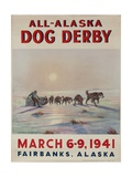 1941 All Alaska Dog Derby Poster Giclee Print