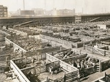 Overhead View of Chicago Stockyards Photographic Print