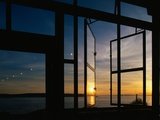 Sunset Reflected on Windows Photographic Print by Paul Souders