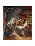 The Preparation of Wedding Contracts Giclee Print by Jan Josef Horemans