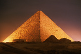 Pyramid of Cheops at Night Photographic Print by Roger Ressmeyer