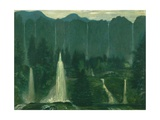 Many Waters (Waterfalls) Giclee Print by Arthur Bowen Davies
