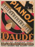 Pianos Daude Poster Giclee Print