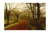 Stapleton Park, Pontefract Giclee Print by John Atkinson Grimshaw