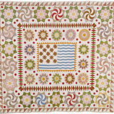 American Pieced and Appliqued Cotton Quilted Coverlet Photographic Print
