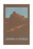 Legends of the Pueblos, Buttes Giclee Print