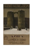 Avila Spain Travel Poster, the Walled Mystic City Giclee Print