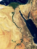 Nile River in Egypt and the Sinai Peninsula Photographic Print