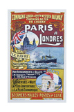 Paris to London Poster Giclee Print