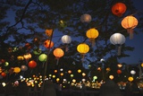 Paper Lanterns at Jangchung Park Photographic Print by Paul Souders