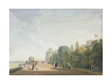 Windsor Castle: the North Terrace Looking East, with Elegant Figures Giclee Print by Paul Sandby