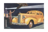 Automobile at the Airport Giclee Print