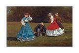 Croquet Scene Giclée-tryk af Winslow Homer