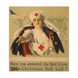 Have You Answered the Red Cross Christmas Roll Call Giclee Print by Harrison Fisher