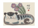 Sleeping Cat Giclee Print