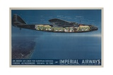 Imperial Airways Travel Poster, Ensign Air Liner Cutaway Giclee Print