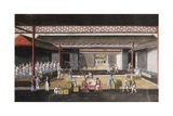 A Chinese Export Ricepaper Painting Depicting a Storage House Interior Giclee Print