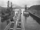 U. S. S. Missouri and U. S. S. Ohio at the Panama Canal Photographic Print